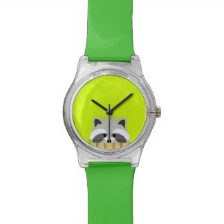 Reloj lindo del mapache