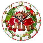 reloj lindo del navidad del amor del reno de Rudol