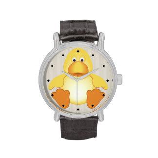 Reloj lindo del pato