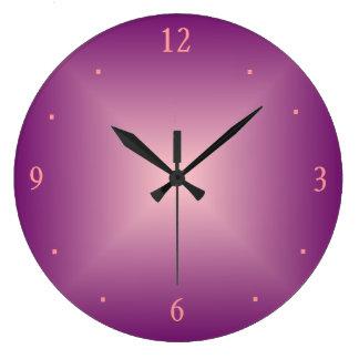 Reloj llano del >Wall del rosa color de rosa