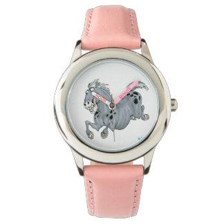 Reloj loco del caballo del dibujo animado