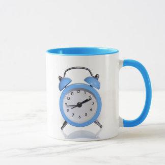reloj-mañana de la alarma taza