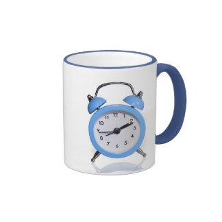 reloj-mañana de la alarma taza de café