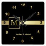 Reloj masculino del ejecutivo del monograma