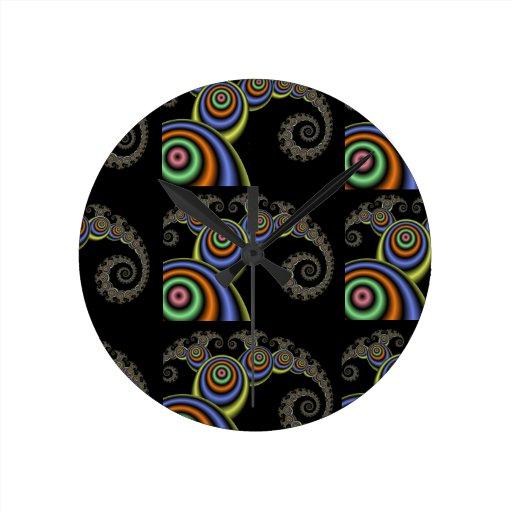 Reloj matemático de la onda