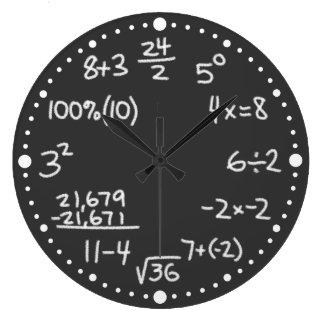 Reloj matemático del negro del amante de las