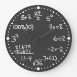 Reloj matemático del negro del amante de las ecuac