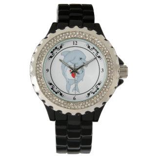 Reloj maternal del amor del delfín