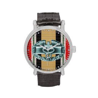 Reloj médico de la insignia del combate de Iraq