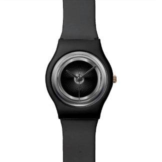 Reloj metálico de la rueda del neumático de coche
