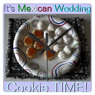 Reloj mexicano de las galletas del boda