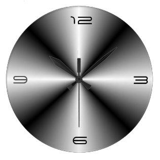 Reloj minimalista de Look>Wall del acero