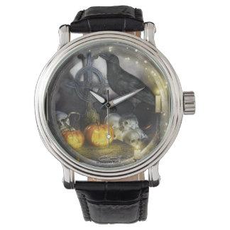 Reloj místico del arte del cuervo