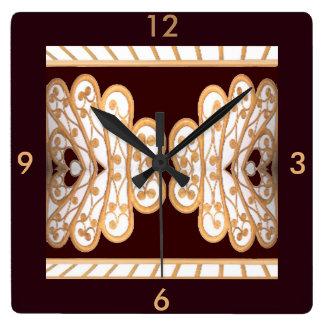 Reloj - modelo de bambú en blanco, marrón, moreno