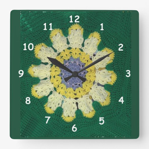 Reloj - modelo del ganchillo - margarita