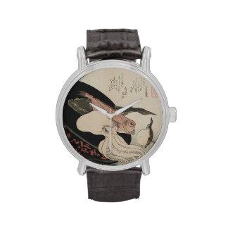 Reloj moderno con imagen japonesa del arte del vin