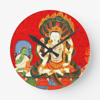 Reloj moderno de Acryllic del arte hindú de Vishnu