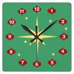Reloj moderno del navidad de los mediados de siglo
