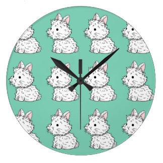 Reloj mullido del conejito