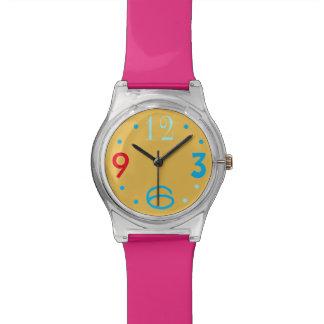 Reloj multicolor de Numerals>Girls de la cara