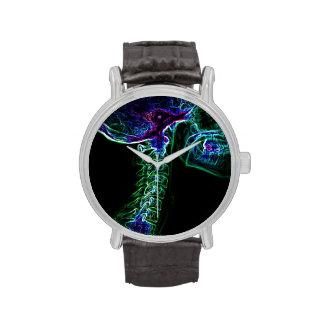 Reloj multicolor/verde de la C-espina dorsal