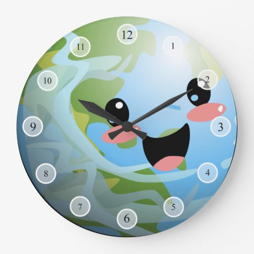 Reloj mundial feliz