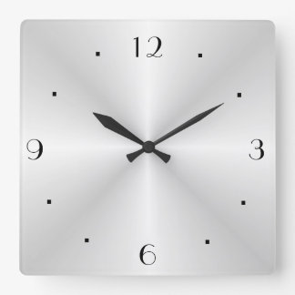 Reloj muy llano de la plata > de pared