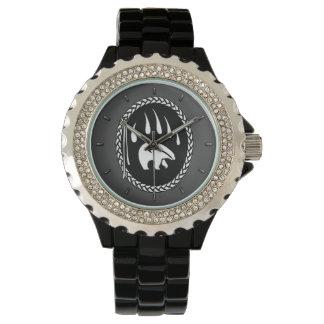 Reloj nativo del oso del arte del reloj tribal del