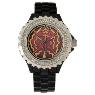 Reloj nativo espiritual del arte del reloj tribal