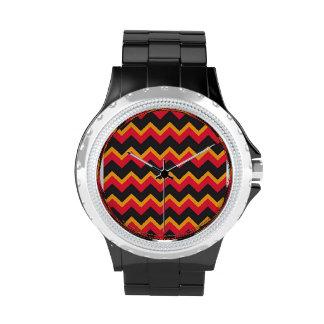 Reloj negro ardiente del diamante artificial de Ch