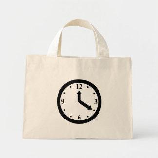 Reloj negro bolsa tela pequeña
