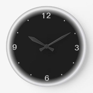 Reloj negro con los relojes de pared llanos blanco