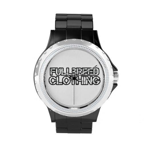 Reloj negro de encargo de Fullbreed