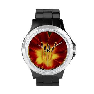 ¡Reloj negro de la aleación del esmalte del deseo
