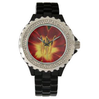 ¡Reloj negro de la aleación del esmalte del deseo! Relojes De Mano
