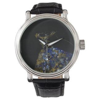 Reloj negro de las ilustraciones del vestido
