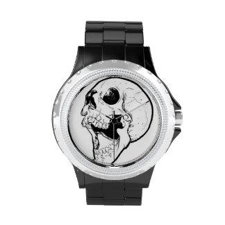 Reloj negro de los videojugadores del diamante