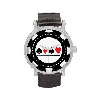 Reloj negro del microprocesador del casino
