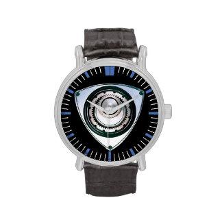 Reloj negro del motor rotatorio de la correa de