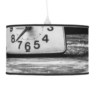 Reloj negro lámpara de techo