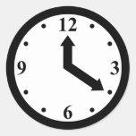 Reloj negro pegatina