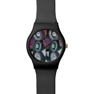 Reloj negro reflector de las lunas May28th