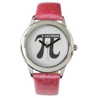 Reloj No-Irracional del pi 3,14 (brillo rosado)