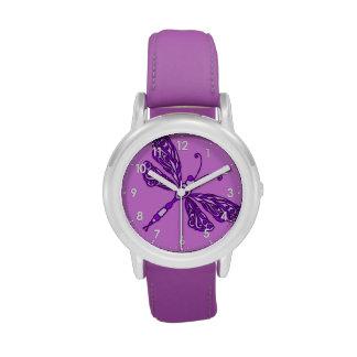 Reloj numerado libélula de los chicas