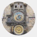 Reloj o Praga astronómico Orloj Pegatina Redonda