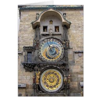 Reloj o Praga astronómico Orloj Tarjeta De Felicitación