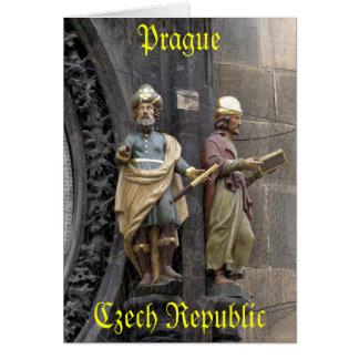Reloj o Praga astronómico Orloj Tarjetón