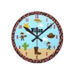 Reloj occidental del sitio de los niños del vaquer