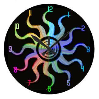 Reloj ondulado del diseño de los rayos de Sun del