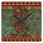 Reloj oxidado del arte de la fantasía del metal de